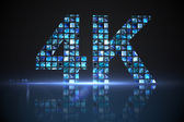 4k made of digital screens in blue — Stock Photo