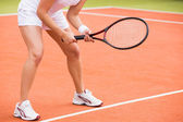 Tennis player ready to play — Stock Photo