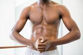 Shirtless muscular man — Stock Photo