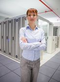 Confident data technician looking at camera  — Stock Photo
