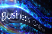 Business online on digital screen — Stock Photo