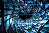 Vortex of digital screens in blue — Stock Photo