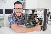 Computer engineer working — Stock Photo