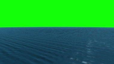Ocean under green screen — Stock Video