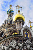 Igreja Catedral, São Petersburgo, céu, manhã, meio-dia, tarde, a Catedral de spas-at-krovi — Fotografia Stock