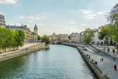 Seine embankment, Paris, France — Stock Photo