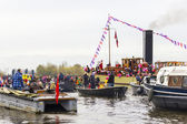 AMSTERDAM, NETHERLANDS - NOVEMBER, 18, 2012: Sinterklaas arrives in Holland by boat — Stock Photo