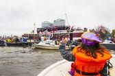 AMSTERDAM, NETHERLANDS - NOVEMBER, 18, 2012: Sinterklaas arrives — Stockfoto