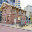 Royalty-Free Stock Photo: Building in the traditional Dutch style against the background o