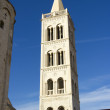 Stock Photo: Roman ruins and St. Mary church in Zadar, Croatia