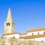 Porec - old Adriatic town in Croatia, Istria region. Popular tou — Stock Photo #25817191