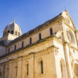 St. James's cathedral in the city of Sibenik in Dalmatia, Croati — Stock Photo