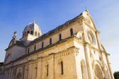 St. James's cathedral in the city of Sibenik in Dalmatia, Croati — Stock Photo