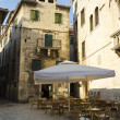 Outdoor cafe in old town, Split, Croatia — Stock Photo #26107673