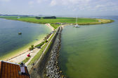 View of the bay from the lighthouse on a sunny day, Marken, the — Stock Photo