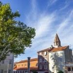 Roman ruins and St. Mary church in Zadar, Croatia — Stock Photo