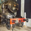 Stem locomotive in Utrecht Railroad Museum, the Netherlands — Stock Photo