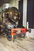 Stem locomotive in Utrecht Railroad Museum, the Netherlands — Stockfoto