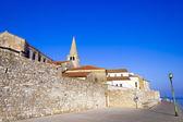 Porec - cidade velha do mar adriático, na croácia, região de istria. tou popular — Foto Stock