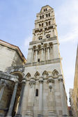 Diocletian palace ruins and cathedral bell tower, Split, Croatia — Stock Photo