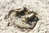 Sand Castle on the Beach, North Sea, Netherlands — Stock Photo