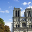 Stock Photo: Notre Dame de Paris cathedral at late summer