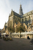 "St bavo church or ""grote kerk"" Haarlem, Netherlands — Stock Photo"