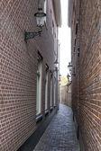Narrow street, Haarlem, the Netherlands — Stock Photo