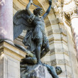 Saint Michael fountain , Paris, France — Stock Photo