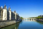 Bron över seine, paris, frankrike — Stockfoto