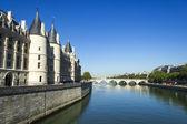 Ponte sobre o sena, em paris, frança — Fotografia Stock