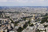 Aerial view of Paris, France from Montparnasse — Stok fotoğraf