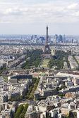 Luftbild von paris, frankreich von montparnasse — Stockfoto