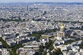 Vista aérea de paris, frança de montparnasse — Foto Stock