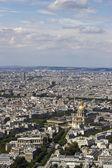 Letecký pohled na paříž, francie od montparnasse — Stock fotografie