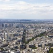 Aerial view of Paris, France from Montparnasse — Stock Photo