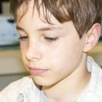 Porträt einer süßen Jungen-Nahaufnahme — Stockfoto #36374449