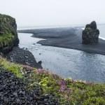 Black volcanic sand on the south coast of Iceland — Stock Photo #36531967