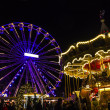 Turning Ferris wheel on achristmas market, Maastricht, Nethe — Stock Photo #38807867