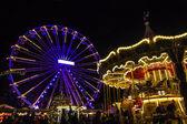 Turning Ferris wheel on achristmas market, Maastricht, the Nethe — Stock Photo