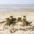 Stock Photo: Sand Castle on Beach, North Sea, Netherlands