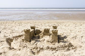 Sand Castle on the Beach, North Sea, Netherlands — Stock Photo