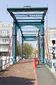 Bridge Ezelsbrug, Amsterdam, the Netherlands — Zdjęcie stockowe