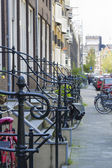 Railing near the porch,  Amsterdam, Netherlands — Stock Photo