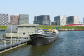Boats on the canal in East of Amsterdam city center — Stock fotografie