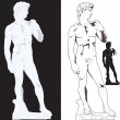 Michelangelo's David — Stock Vector