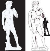 Michelangelo's David — Stock Vector