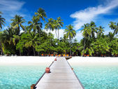 Footbridge, Maldives — Stock Photo