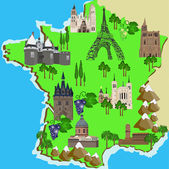 Map of France — Stock Vector