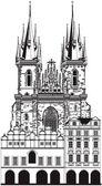 圣母教堂 — 图库矢量图片
